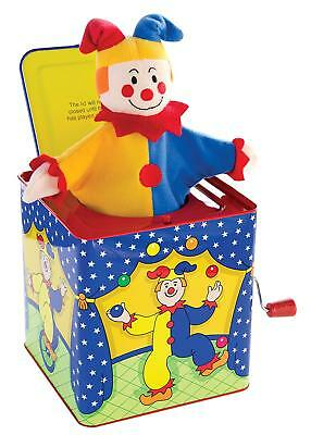THE CLASSIC JACK-IN-THE-BOX JESTER TOY, A GREAT GIFT, Plays Pop Goes The Weasel