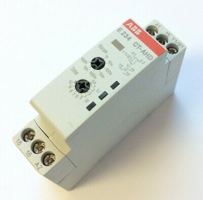ABB CT-AHD.12 Time Relay Off-Delay Voltage: 24-240VAC 24-48VDC, Time: 0.05s-100h