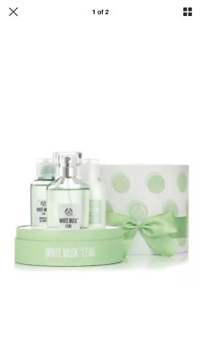 Brand New The Body Shop White Musk L Eau Giftset