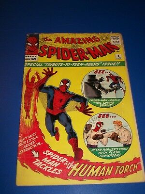 Amazing Spider-man #8 Silver Age 1st Ned Leeds Key VG+ Wow