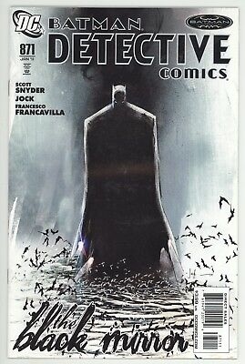 Detective Comics (1937) #871 1st Print Black Mirror Begins Scott Snyder Jock NM