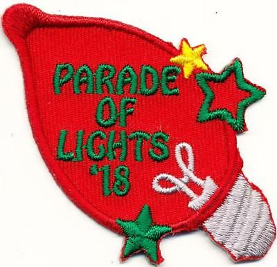 Girl Boy Cub Christmas PARADE OF LIGHTS '18 Fun Patches Crest Badges SCOUT GUIDE