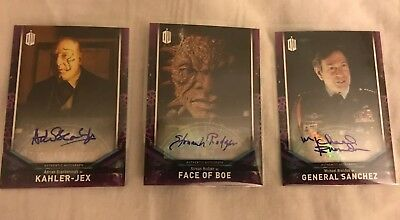2018 Doctor Who Signature Series Lot of 3 Face Of Boe, General Sanchez, Kahler