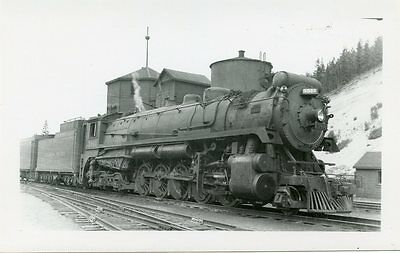5E667 Rp 1947 Cp Canadian Pacific Railroad Engine #5911 Golden Bc