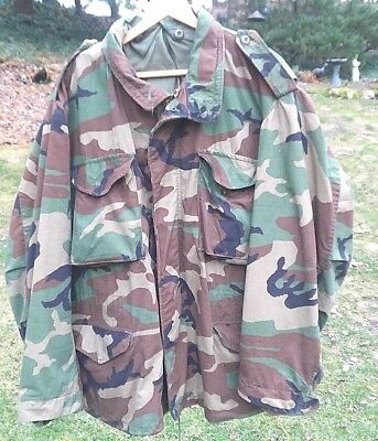M65 Field Jacket X Large Regular Coat Cold Weather Woodland Camouflage US Army
