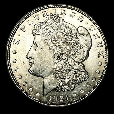 1921 D ~**ABOUT UNCIRCULATED AU**~ Silver Morgan Dollar Rare US Old Coin! #775