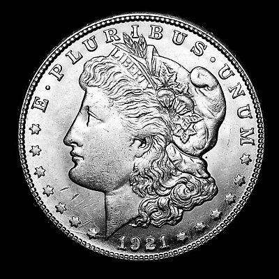1921 S ~**ABOUT UNCIRCULATED AU**~ Silver Morgan Dollar Rare US Old Coin! #311