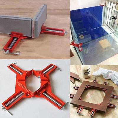 90 Degree Right Angle Miter Corner Clamps Frame Holder Hand Woodworking Kit T1O3