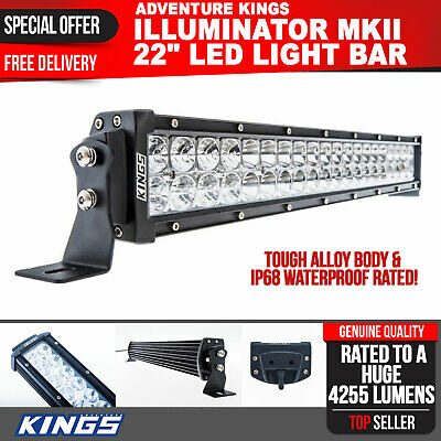 22inch LED Light Bar Spot Flood IP68 Waterproof Wide Beam 4WD Offroad MKII Kings