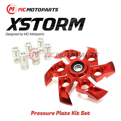 For Ducati Monster 1100 ABS EVO S RED XStorm Pressure Plate SILVER Springs 1 Set