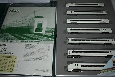 "N Scale Kato 10-173 JR Limited Express Series 651 ""Super-Hitachi"" - 7 Cars  JW11"