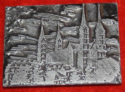 Print Plate Cliche Bamberg Cathedral 6x4, 5 Cm