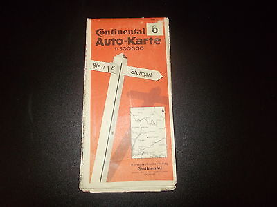 Map Car Map Continental Strassenkarte Map 6 Stuttgart 1:500000