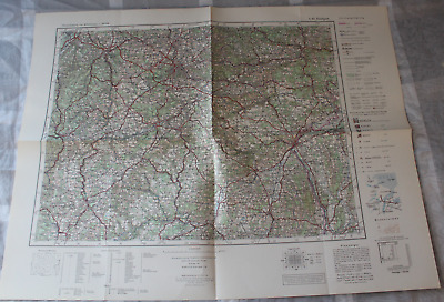 Map Outline Map of Central Europe 1:3 00000 L 49 Stuttgart