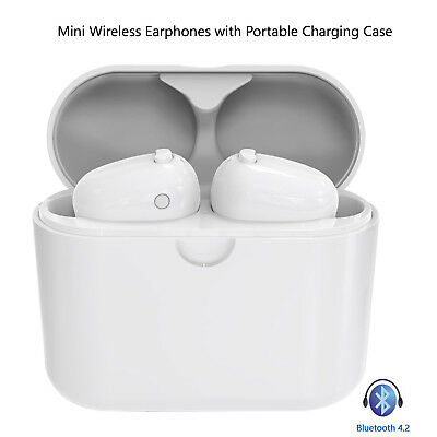 Bluetooth Headsets Dual Earbuds with Charging Case for iPhone Samsung Motorola