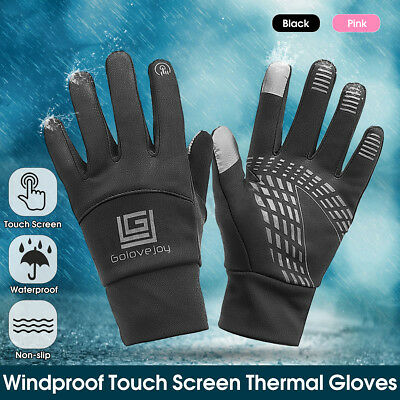 Windproof Waterproof Cycling Full Finger Gloves Touch Screen Bike Racing Skiing