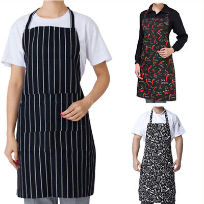 Mens Womens Cooking Kitchen Restaurant Chef Adjustable Bib Apron Dress w/ Pocket