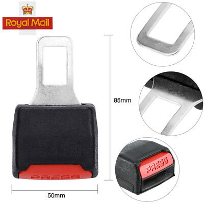 New CAR SEAT BELT CLIP EXTENDER SUPPORT BUCKLE SAFETY ALARM STOPPER CANCELLER 2x