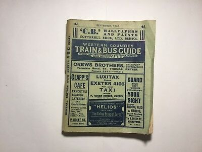 Western Counties Train & Bus Guide September 1945