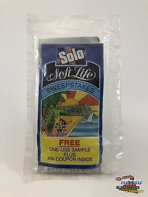 RARE Vintage 1979 Solo Laundry Detergent Sample NEW FACTORY SEALED