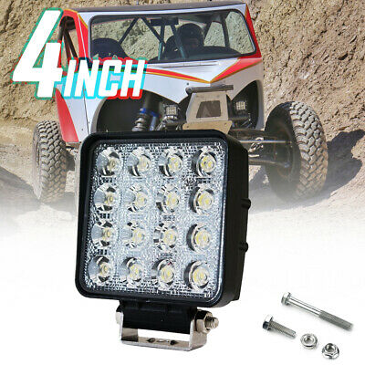 1X 48W LED Work Light Flood Truck Driving Fog Lamp Square 4WD Jeep Boat 12-80V