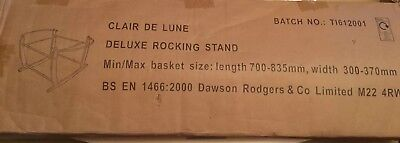 Clair De Lune Moses Basket Stand Brand New in Box Natural
