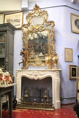Fireplace White Marble, France, First Half' From'800 / Antique /