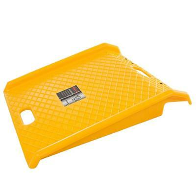 Stalwart Curb Ramp, Heavy Duty Portable Poly Ramp with 1000 lb Weight...