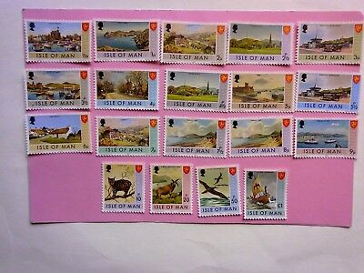 ISLE OF MAN: 1972 Pictorials 19 values to £1  M/Mint  btwn Sg12/33