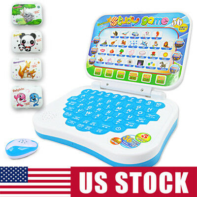 US Children Carton Computer Laptop Educational Learning Toys Gift For Boys Girls