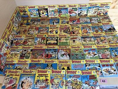 The Dandy Comic Library x 66 Issues Big Bundle Vintage UK Comic Including No 1