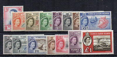 Turks and Caicos Islands 1957 set to 10s + 1960 £1 MLH