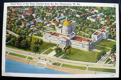 1940s State Capitol Building (Aerial), Charleston, West Virginia