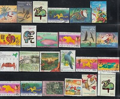 CHRISTMAS ISLAND Collection (24) Stamps to Recent USED
