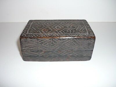 Old Tribal Wooden Tobacco Box Timor Indonesia