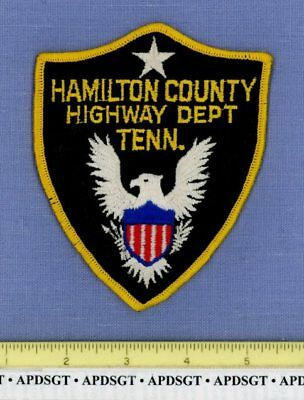 HAMILTON COUNTY HIGHWAY DEPT (Old Vintage) TENNESSEE Police Patch CHEESECLOTH