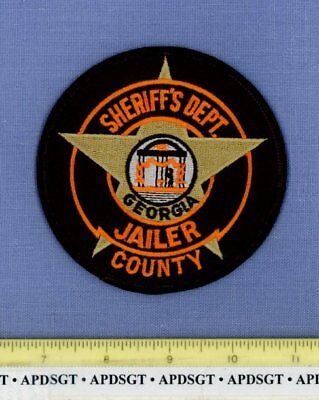 GEORGIA SHERIFF'S DEPARTMENT JAILER Sheriff Police Patch DOC CORRECTIONS PRISON