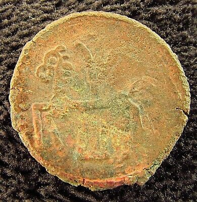 Rare Type Ancient Celtic Bronze Drachm Ambiens circa 100  BC (+334)
