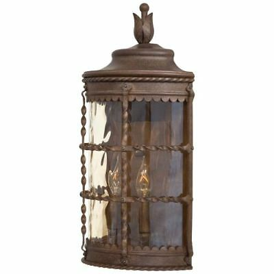 "The Great Outdoors 8887-A61 2-Light 19.5"" Height Outdoor Sconce, Mallorca Collec"