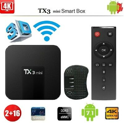 TX3 Mini 4K TV Box 2GB+16GB 64Bit Android 7.1 Quad Core S905W 2.4GHz WiFi HOT AB