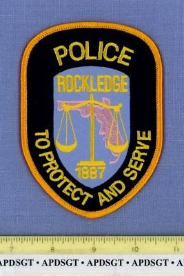 ROCKLEDGE FLORIDA Sheriff Police Patch STATE SHAPE OUTLINE