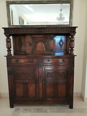 Stunning Large Antique Victorian Carved Pine Sideboard Dresser