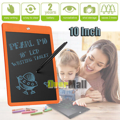 "10"" Digital LCD Writing Tablet Pad Drawing Graphic Board Notepad eWriter Orange"
