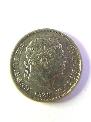 Great Britain george iii 1820 shilling 1/s silver shillling coin