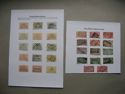 BELGIUM, small lot used and hinged railway stamps, mixed quality
