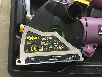 Exakt  Circular Saw - DC270 with Case and 3 Blades