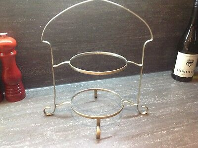 Lovely 1900's Art Deco Silver Plated 2 Tier Cake Stand - Afternoon Teas!