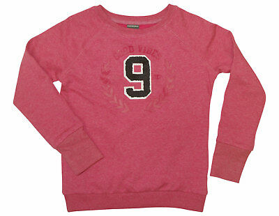Sweatshirt KIDSWORLD Gr. 140 146 pink meliert Sweat Shirt Print Patch