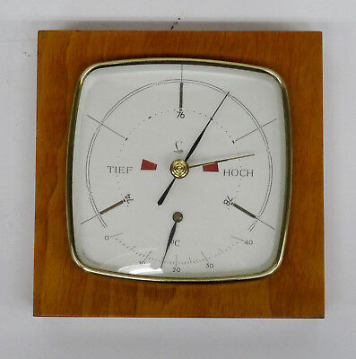 mid century design 60s - Edles Lufft Wetterstation Barometer + Thermometer