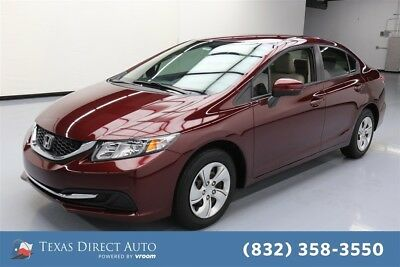 2015 Honda Civic LX Texas Direct Auto 2015 LX Used 1.8L I4 16V Automatic FWD Sedan